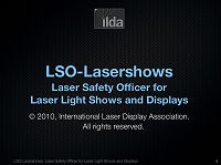 Title slide from ILDA LSO Laser Safety Officer course