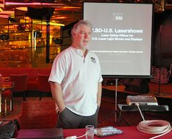 Greg Makhov teaches ILDA's first Laser Safety Officer course