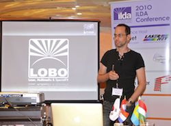 Alex Hennig of LOBO at the ILDA Artistic Seminar